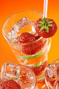 Free Fresh Water And Strawberries Royalty Free Stock Photo - 5907715