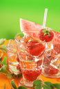 Free Fresh Water And Strawberries Stock Images - 5907874