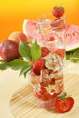Free Fresh Water And Strawberries Stock Image - 5907911
