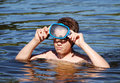 Free The Boy With The Diving Mask Stock Image - 5908651