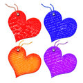Free Gift Tags In The Form Of Heart. Royalty Free Stock Photography - 5909067