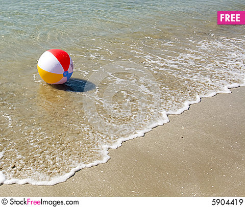 Free Colored Beach Ball Royalty Free Stock Images - 5904419