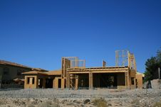 Free Desert Home Under Construction Royalty Free Stock Photo - 5900955
