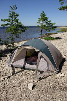 Holiday Camping Royalty Free Stock Photo