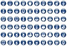 Free Blue Icons Stock Photography - 5901392
