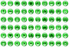 Free Green Icons Stock Images - 5901594