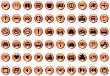 Free Orange Icons Royalty Free Stock Images - 5901619