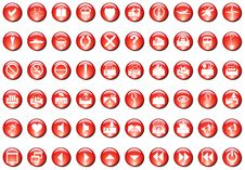 Free Red Icons Stock Images - 5901664