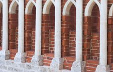 Row Of Stone Columns Stock Photo