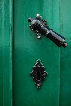 Free Old Door Handle Stock Photography - 5903182