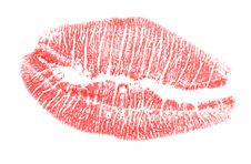 Free Red Lips Imprint Stock Photography - 5904092
