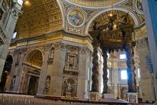 Inside St. Peters Royalty Free Stock Images