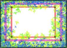 Free Blu Leaves Frame Royalty Free Stock Image - 5904946