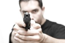 Man And Gun 01 Royalty Free Stock Photos