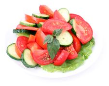 Free Salad On A White Backgro Stock Photography - 5905542
