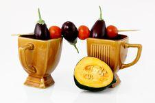 Free Pumpkin And Shish Kebab Stock Photo - 5906000