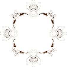 Vector Vintage Floral Frame Royalty Free Stock Photography