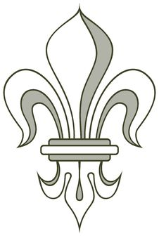 Vector Heraldry Lily Stock Photos