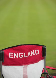 England Chair By A Bowling Green Stock Photos