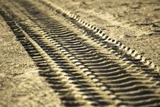 Free Track In The Sand Royalty Free Stock Image - 5906896