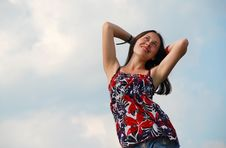 Free Woman On A Background Of The Sky Stock Photo - 5907360