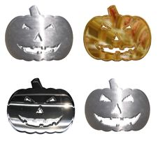 Free Four Chrome Metal Halloween Pumpkins Royalty Free Stock Photos - 5907738