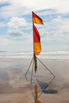 Lifeguard Flag Royalty Free Stock Image