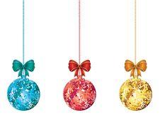 Free Decorative Xmas Balls Stock Images - 59026814