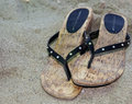 Free Sandals On The Sand Royalty Free Stock Photos - 5914598