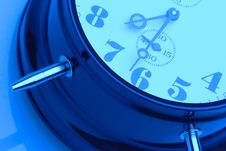 Free Blue Clock Royalty Free Stock Photo - 5910335