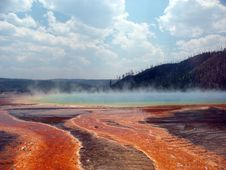 Free Steam From Prismatic Spring Stock Photo - 5910630
