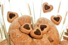 Baked Goods With Wheat Royalty Free Stock Photos