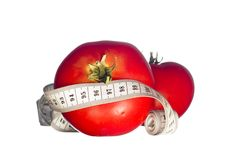 Free Tomatoes With Measuring Tape Stock Image - 5910951