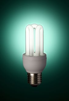 Free Green Florescent Light Bulb Stock Photo - 5912430