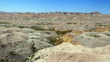 Badlands Panorama Stock Photography