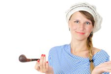 Free Pretty Blue-eyed Girl In Beret Royalty Free Stock Photos - 5913038