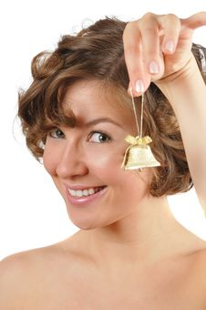 Free Pretty Young Girl With Bell Stock Photos - 5913153