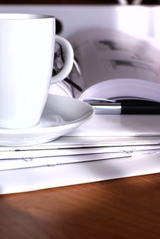 Coffee At The Office Royalty Free Stock Photo