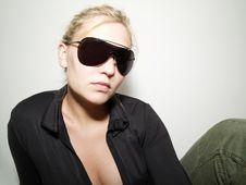 Free Girl In Sunglasses Posing Stock Photos - 5915083