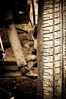Free Old Car Wheel Royalty Free Stock Images - 5915789
