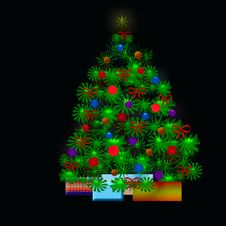 Free Christmas Tree Royalty Free Stock Image - 5915816