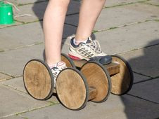 Free Old Wooden Rollers Royalty Free Stock Images - 5915929