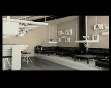 Free The Project Of An Interior Of Cafe Stock Image - 5916021