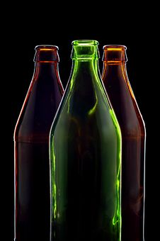 Free Empty Bottles Isolated On Black Stock Images - 5916104