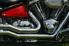 Free Close-up Of A Side Motorcycle With Details. Stock Photography - 5916152