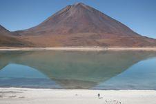 Licancabur Volcano In Bolivia. Stock Photos