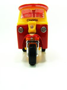 Free Red And Yellow Tuk-tuk Stock Photos - 5916803
