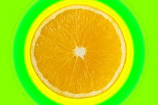 Free Half An Orange With Concentric Circles Royalty Free Stock Photo - 5917205