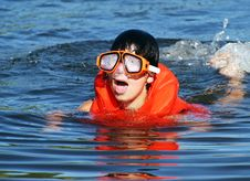 Free The Blind Swimmer Stock Image - 5918321