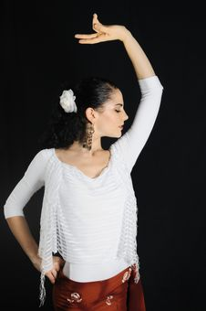 Free Flamenco Dancer Royalty Free Stock Photography - 5918517